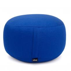Meditationskissen RONDO STANDARD nicht abnehmbar | Dinkelhülsen | blau (Köper)