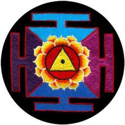 Coussin de méditation RONDO avec Mandala