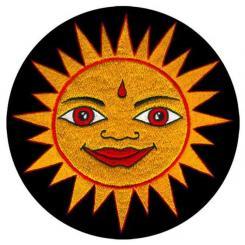 Meditationskissen ZAFU mit Sonne