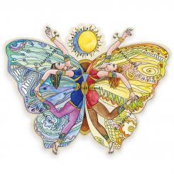 Aufkleber Schmetterling