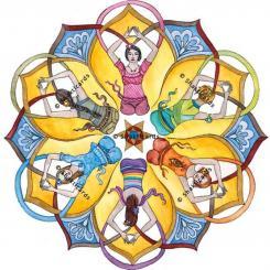 Aufkleber Mandala für Fenster, 14 cm
