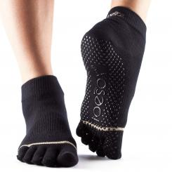 ToeSox Full-Toe Ankle Black Gr. L
