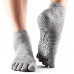 ToeSox Full-Toe Ankle Grey Gr. M