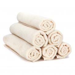 wuwei Terry Handtowel ecru | 6x Guest towel 30 x 50 cm