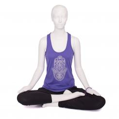 Bodhi Womens Tank Top, purple - Hamsa Hand, silber S