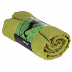 Yogatuch GRIP ² Yoga Towel mit Antirutschnoppen olivgrün