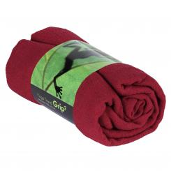 Yogatuch GRIP ² Yoga Towel mit Antirutschnoppen weinrot