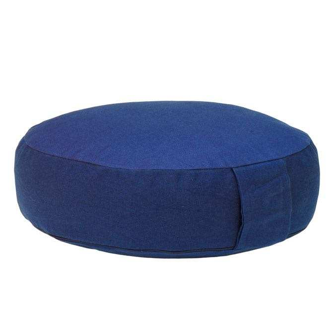 Meditation cushion RONDO BASIC extra FLAT dark blue