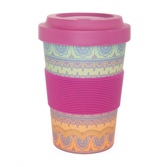 bodhi YogiCup 2 Go Bambus Becher Indian Ornaments