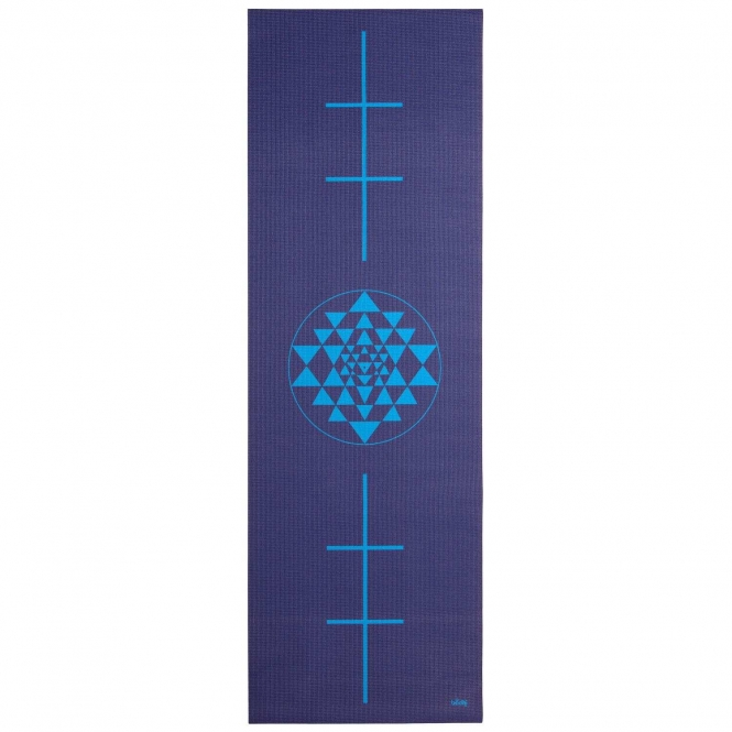 Design Yogamatte YANTRA/ALIGNMENT, The Leela Collection Yantra/Alignment, dunkelblau