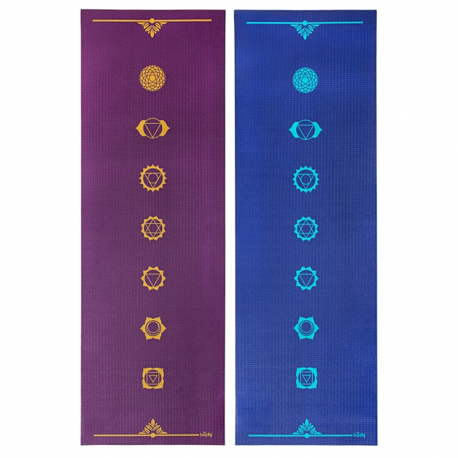 Bodynova Design Yogamatte Chakren The Leela Collection