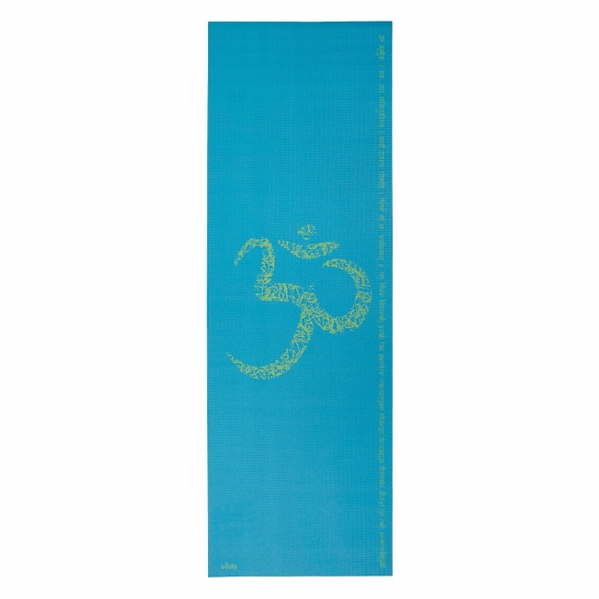 Tapis de yoga design OM/MANTRA, The Leela Collection OM/Mantra, turquoise