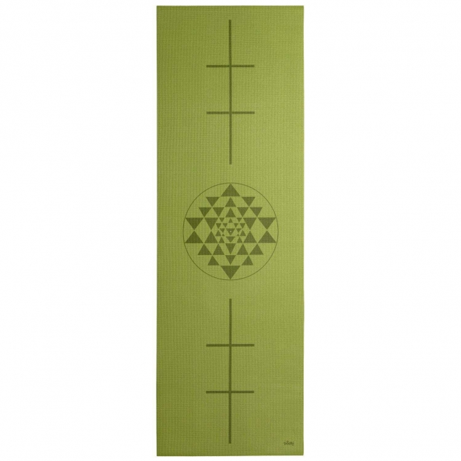 Design Yogamatte YANTRA/ALIGNMENT, The Leela Collection Yantra/Alignment, olive