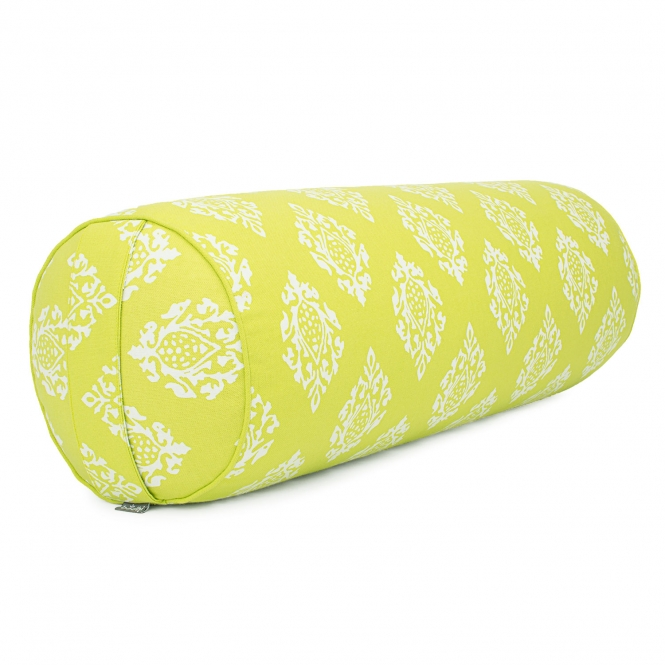 Maharaja Collection : Bolster de yoga,  65 x Ø 23 cm Shimla, citron vert | cosses d'épeautre