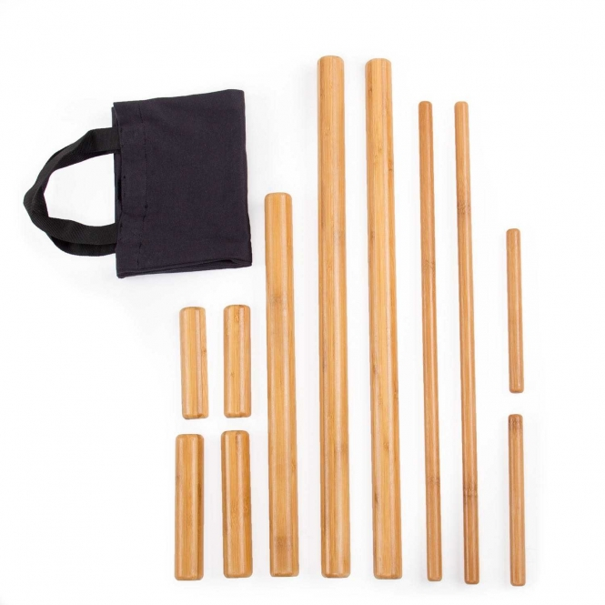 Bamboo Massage Set with 11 bamboo sticks
