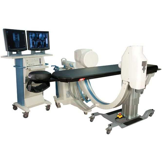 Oakworks CFPM 401 fluoroscopy table with integrated face rest