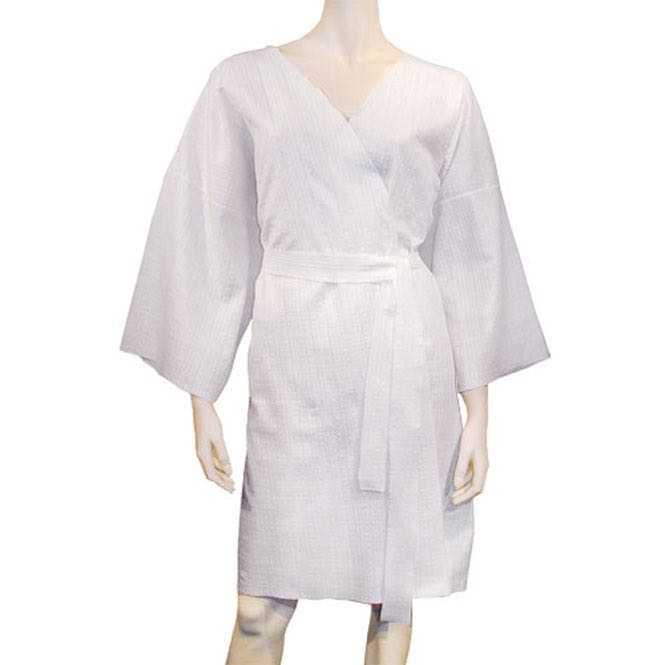 Disposable kimono bathrobe - white