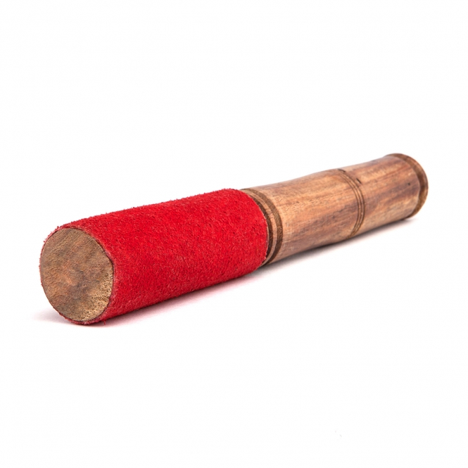 Leather mallet for singing bowls