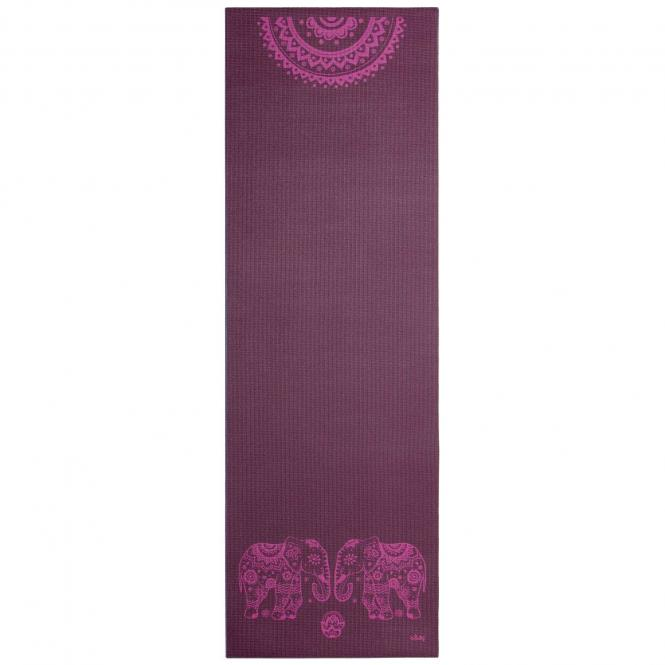 Design Yogamatte ELEFANT/MANDALA, The Leela Collection Elephant/Mandala, aubergine