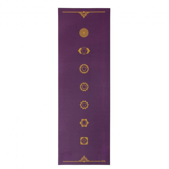 Design Yogamatte CHAKREN, The Leela Collection Chakren, aubergine