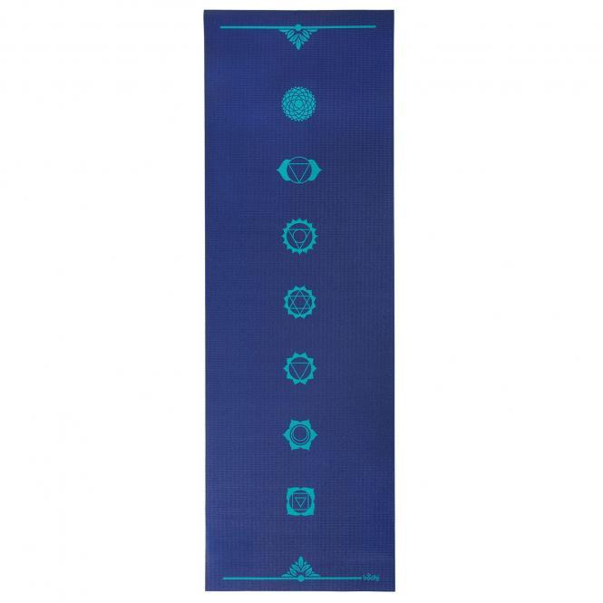 Tapis de yoga design CHAKRAS, The Leela Collection Chakras, bleu