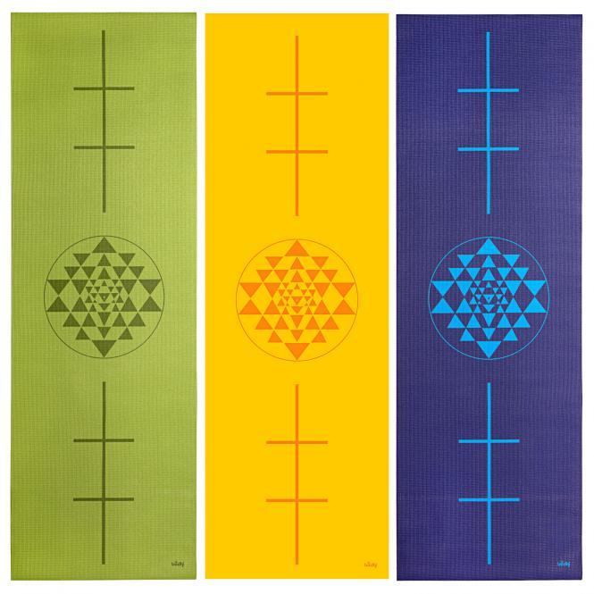 Tapis de yoga design YANTRA/ALIGNEMENT, The Leela Collection