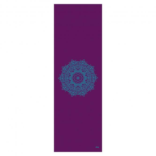 Design Yogamatte MANDALA, The Leela Collection aubergine, Mandala: türkis