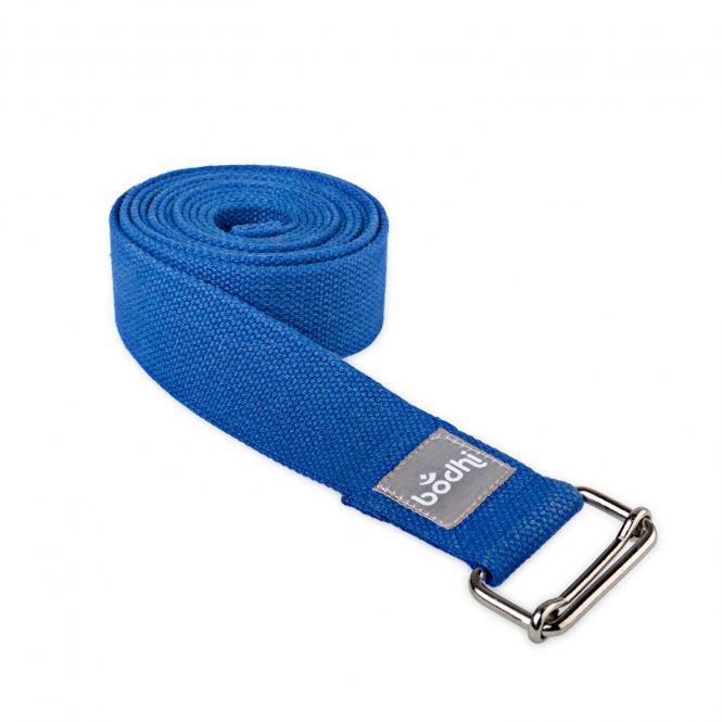 Yogagurt ASANA BELT, mit Schiebeschnalle blau