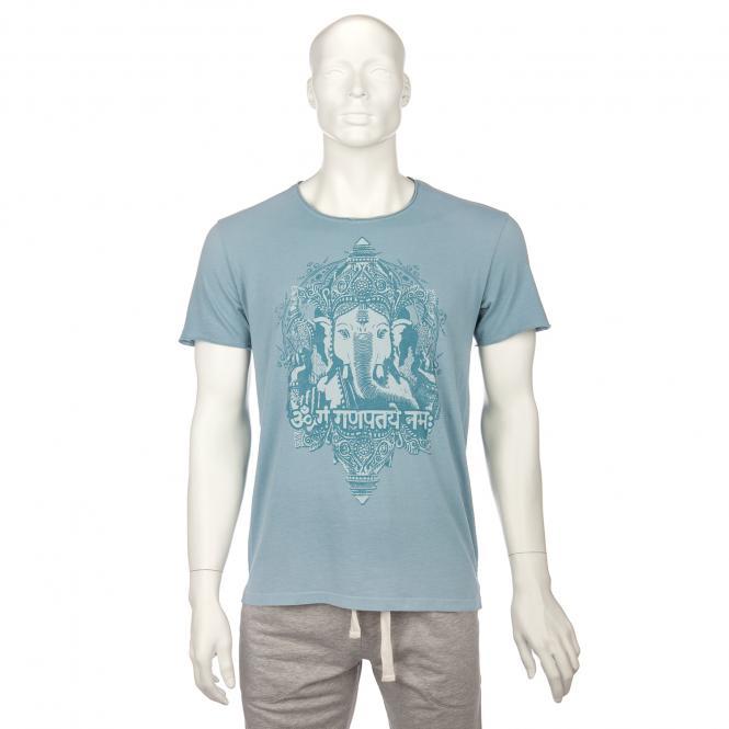 T-shirt homme BODHI - Ganesha, bleu délavé