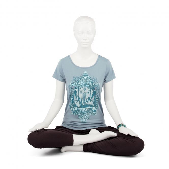 T-shirt femme BODHI - GANESHA, bleu délavé M