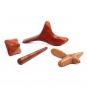 Hardwood Massage Tool Set, 4 pcs.