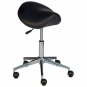 Rolling Stool with saddle seat and castors