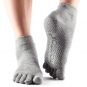 ToeSox Full-Toe Ankle Grey