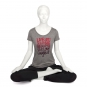 "Bodhi Yoga Shirt Damen - ""Live simply..."", grey melange"