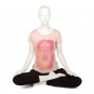 Bodhi Yoga Shirt Damen - Hamsa Hand, rose blush