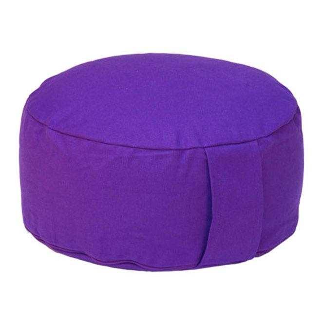 Meditationskissen RONDO BASIC lila   Dinkelhülsen