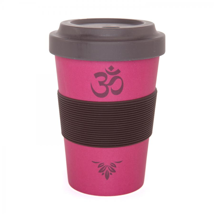 bodhi YogiCup 2 Go, bamboo cup, OM Berry