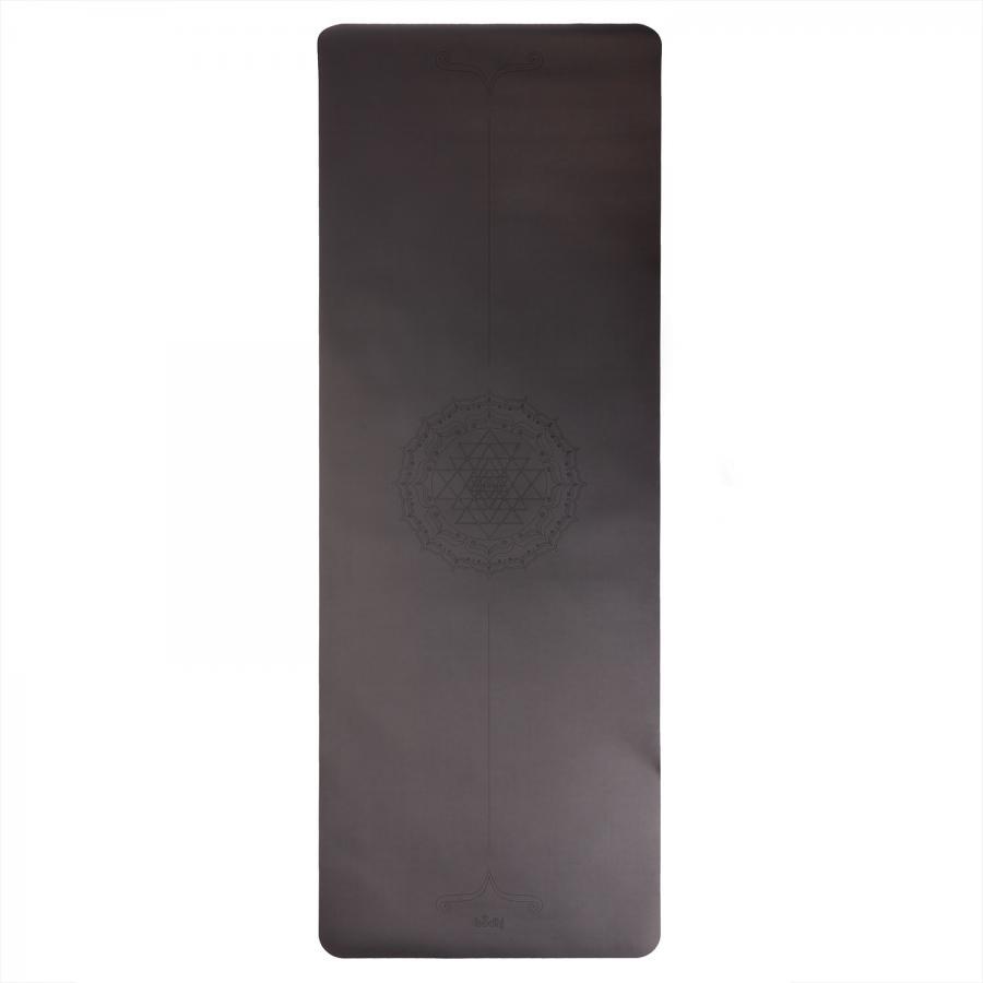Tapis de yoga design PHOENIX, noir, motif Yantra