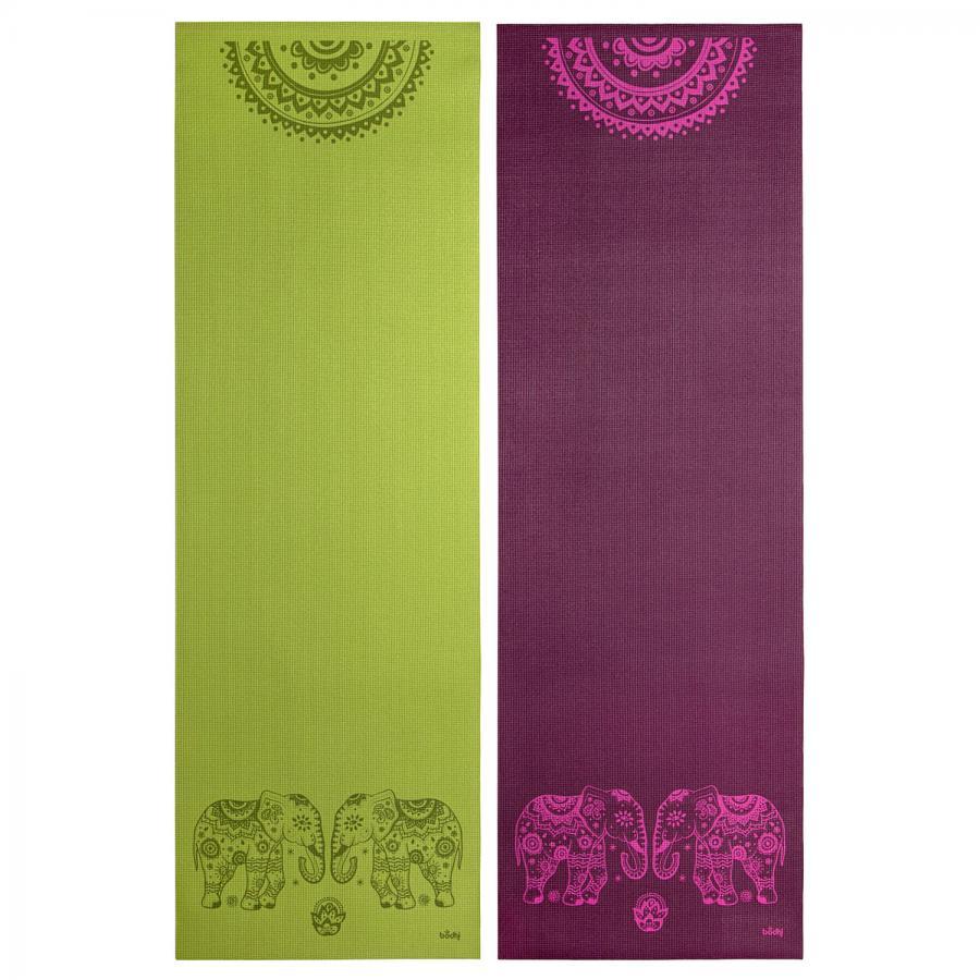 Tapis de yoga design ELEPHANT/MANDALA, The Leela Collection