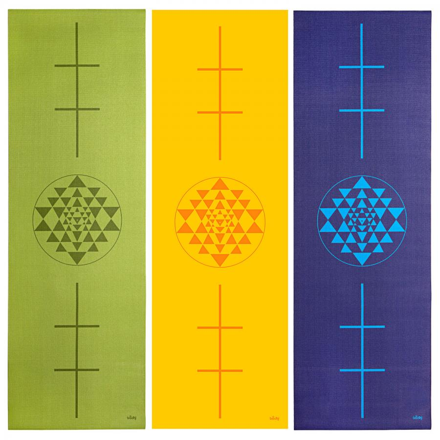 Tapis de yoga design YANTRA/ALIGNEMENT, The Leela Collection