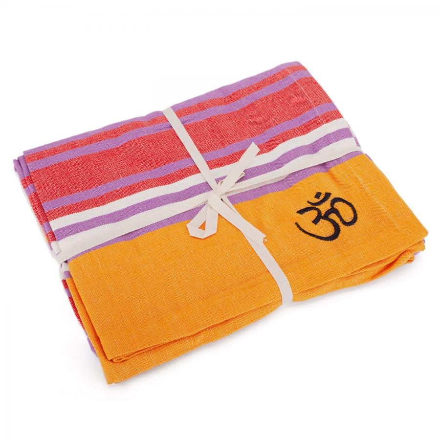 Yogadecke SHAVASANA, Baumwolle, mehrfarbig