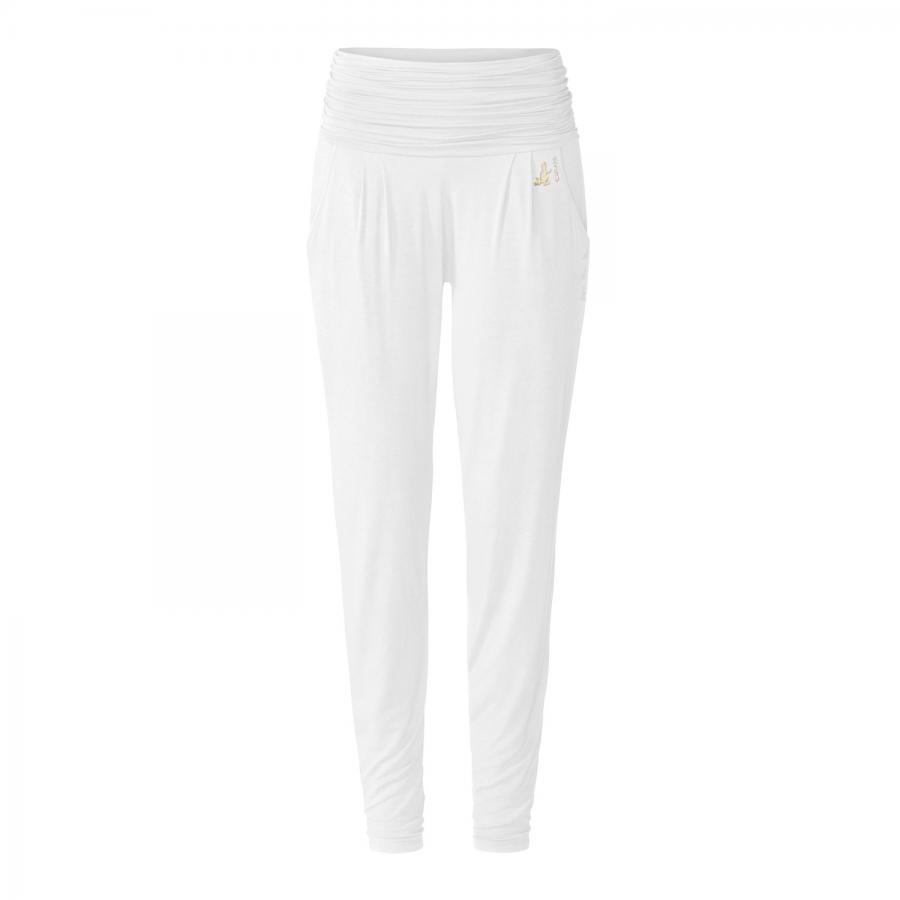 CURARE Gold Edition Long Loose Pants, Roll Down, white
