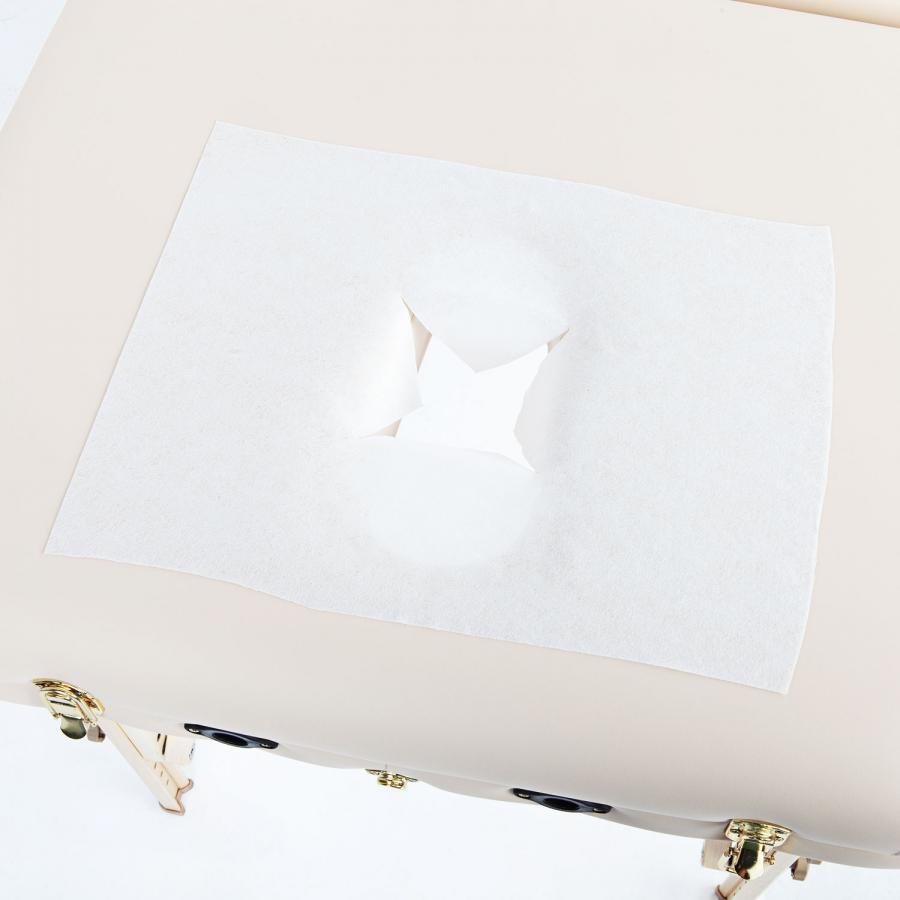 Einweg Auflagentücher m. X-Ausschnitt 100 Stück, 40x30,5 cm