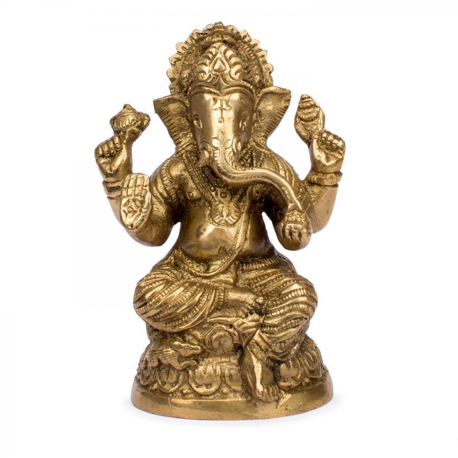 Statuette de Ganesha, laiton, 10,5 cm