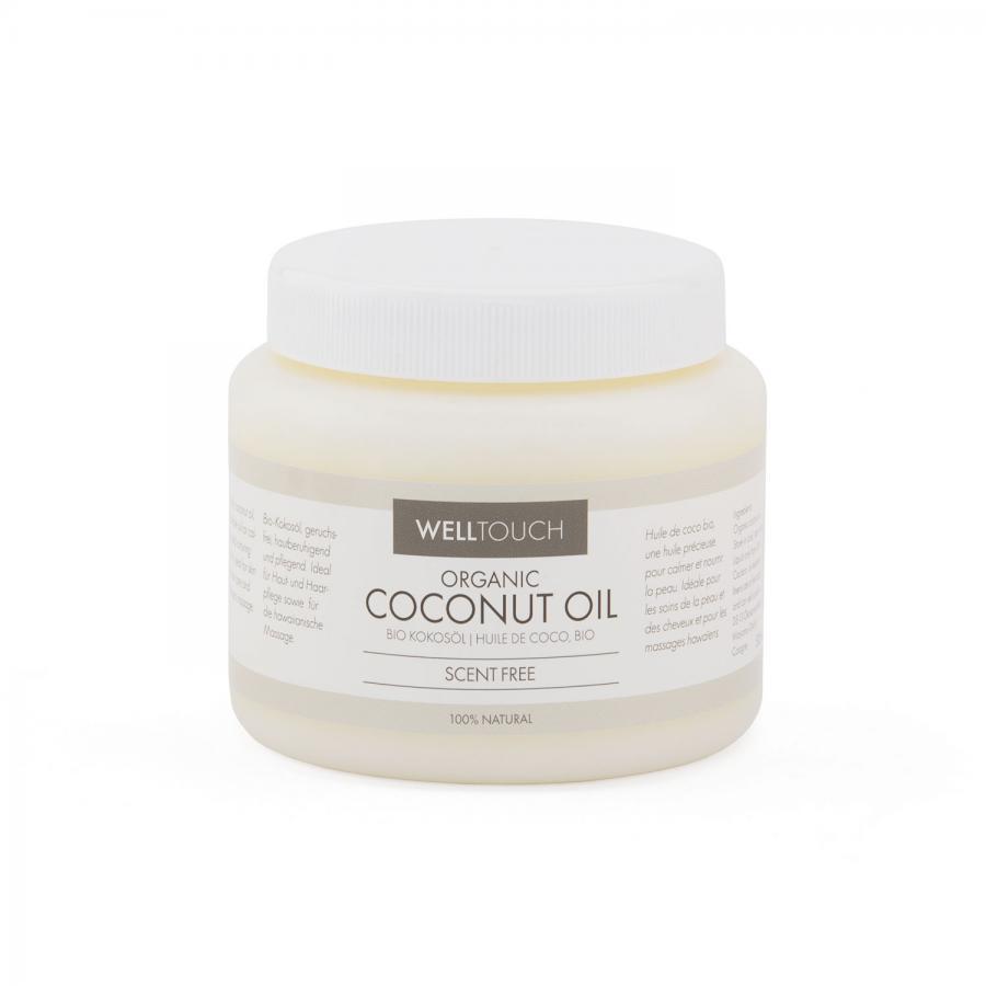 Huile de coco biologique, WellTouch Pot de 500 ml