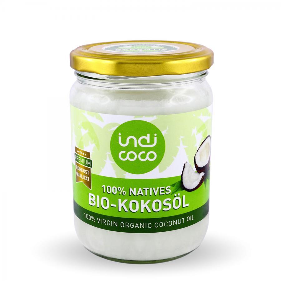 indi coco Kokosöl VCO, 500 ml, kaltgepresst, bio