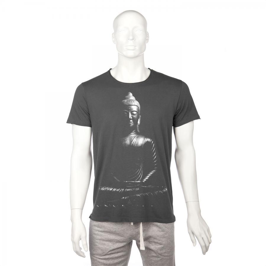 Bodhi Mens T-Shirt - BUDDHA, anthracite