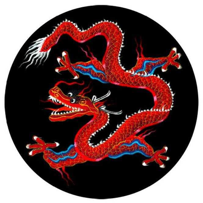 Meditationskissen ZAFU mit Drachen