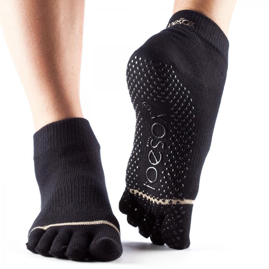 ToeSox Full-Toe Ankle Black