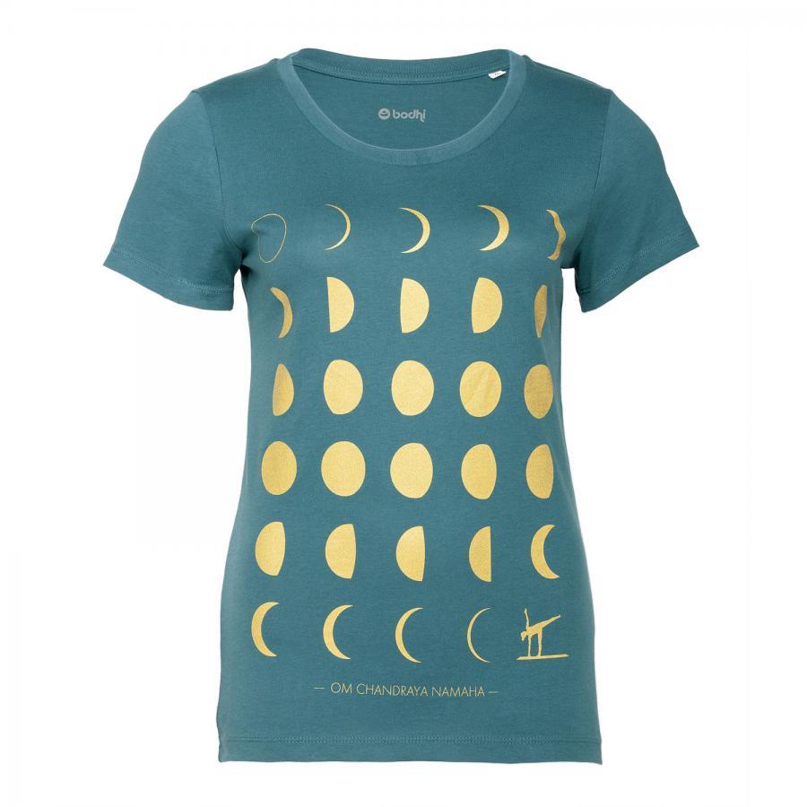 Bodhi t-shirt de yoga pour femme - LUNE, pétrole